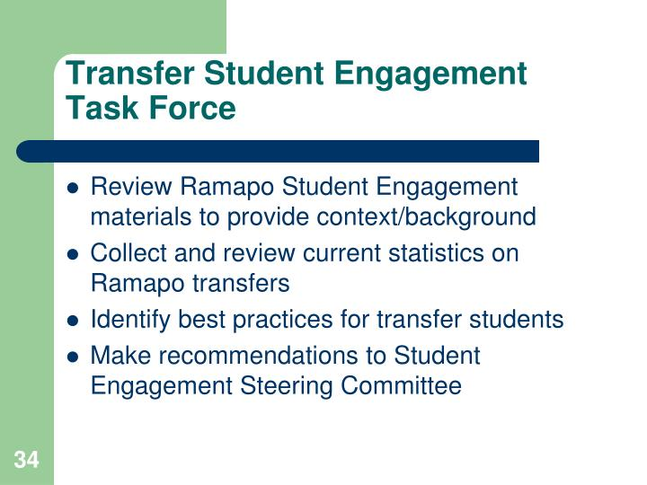 Transfer Student Engagement Task Force