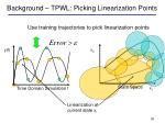 background tpwl picking linearization points