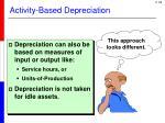 activity based depreciation