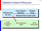 depletion of natural resources1