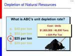 depletion of natural resources4