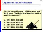 depletion of natural resources5
