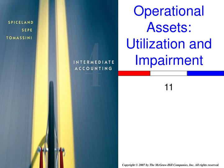 operational assets utilization and impairment n.