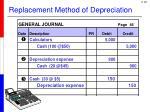 replacement method of depreciation