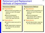 retirement and replacement methods of depreciation1