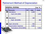 retirement method of depreciation
