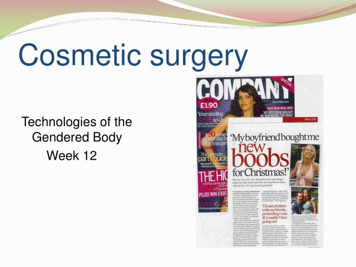cosmetic surgery n.