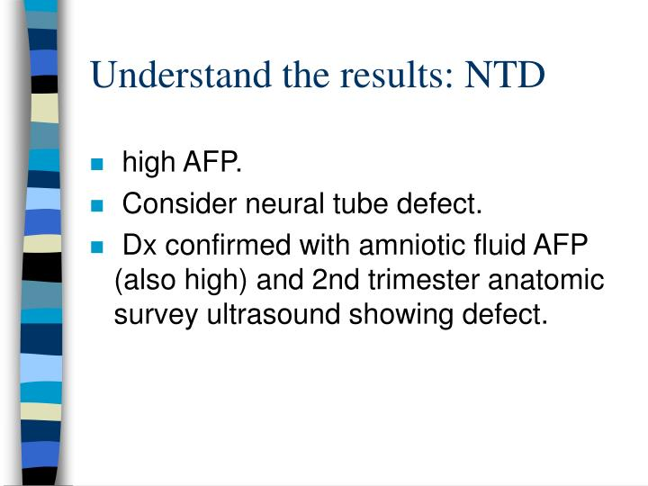 Understand the results: NTD