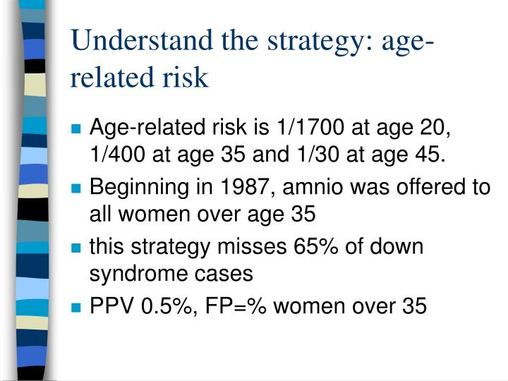 Understand the strategy: age-related risk