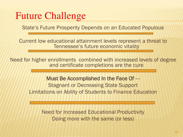 State's Future Prosperity Depends on an Educated Populous