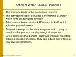 action of water soluble hormones1