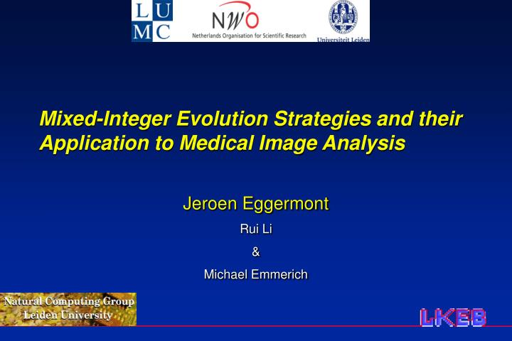 Mixed integer evolution strategies and their application to medical image analysis