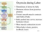 oxytocin during labor