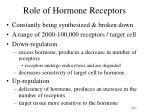 role of hormone receptors