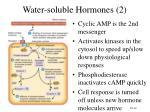 water soluble hormones 2