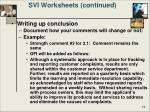 svi worksheets continued