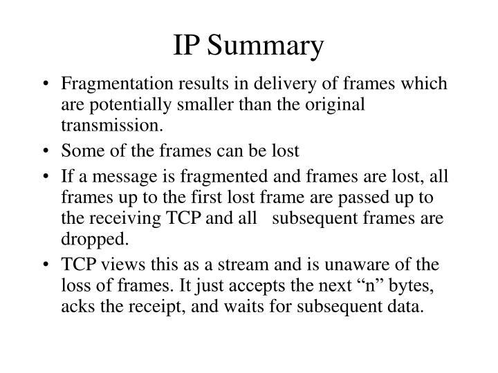 IP Summary