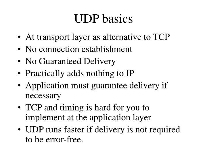 UDP basics