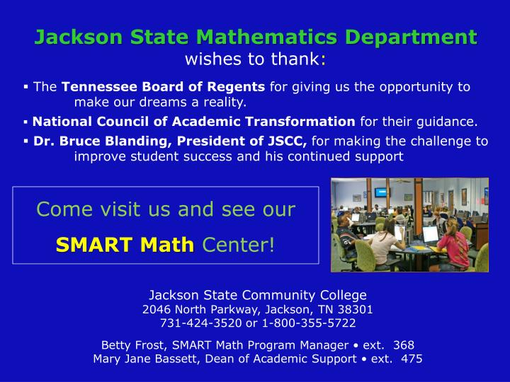 Jackson State Mathematics Department