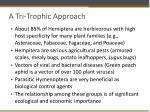 a tri trophic approach