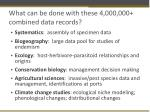 what can be done with these 4 000 000 combined data records