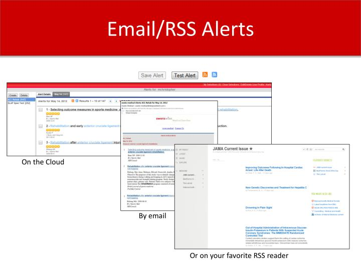 Email/RSS Alerts