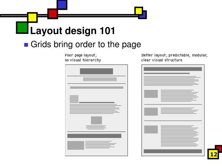 Layout design 101