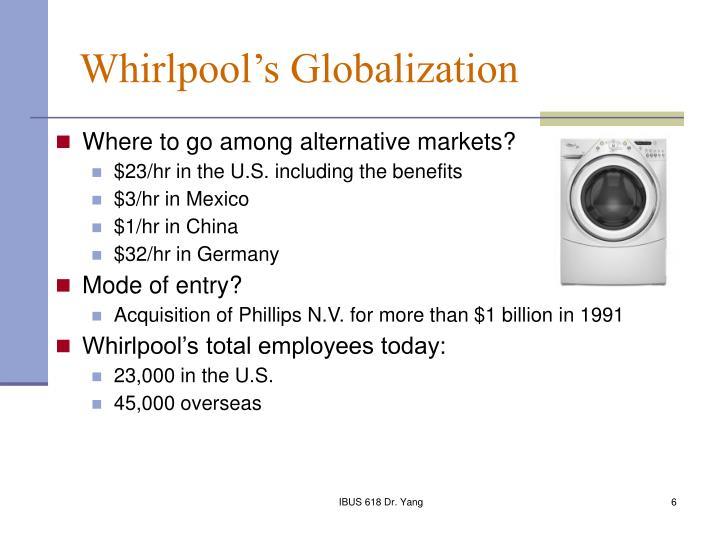Whirlpool's Globalization
