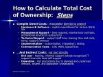 how to calculate total cost of ownership steps1