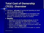 total cost of ownership tco overview