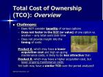total cost of ownership tco overview1
