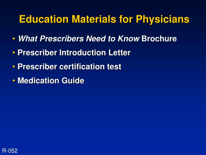 Education Materials for Physicians