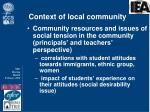 context of local community1