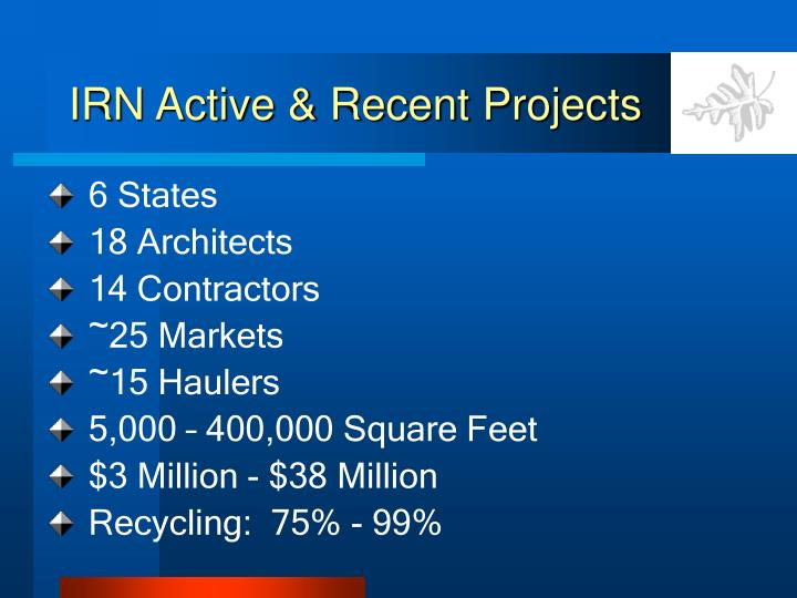 Irn active recent projects1