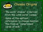 cheese origins