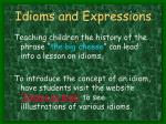 idioms and expressions