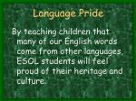 language pride