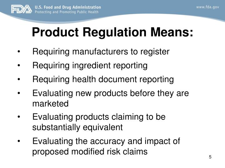 Requiring manufacturers to register