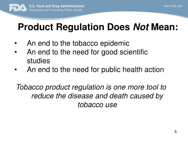Product Regulation Does