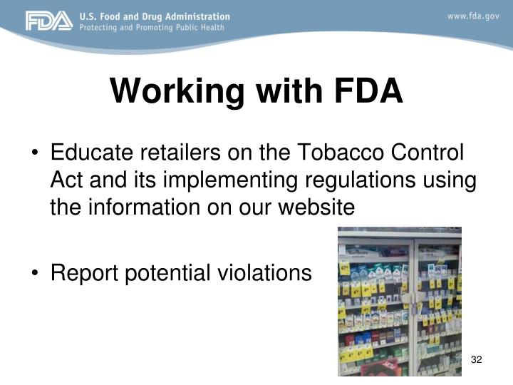 Working with FDA