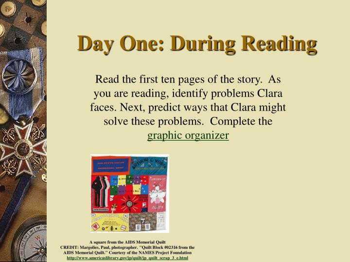 Day One: During Reading
