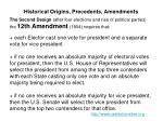 historical origins precedents amendments