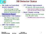 d detector status