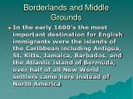 borderlands and middle grounds