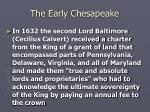 the early chesapeake14