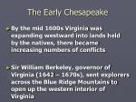 the early chesapeake18
