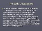 the early chesapeake21