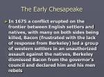 the early chesapeake23