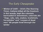 the early chesapeake6