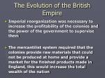 the evolution of the british empire